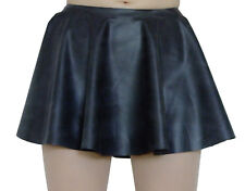 Rubber Skirt Circle Skating Black Mini Latex Silicone Mix M / L Roleplay Short