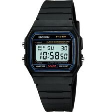 * Nuevo Genuino Original Casio F-91w Alarma Cronógrafo Classic Digital Retro Watch *