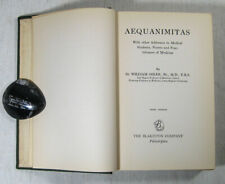Aequanimitas With Other Addresses 1951 Sir William Osler Third Edition