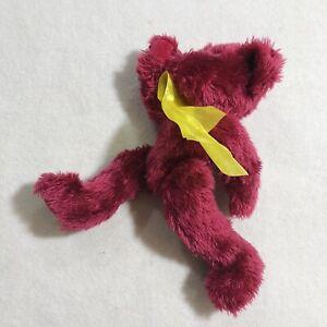 "Vintage Progressive Teddy Bear 10"" Plush Posable Articulated Red Handmade Animal"
