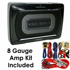 Kenwood KSC-SW11 150 Watts Compact Powered Enclosed Subwoofer with Amp Kit