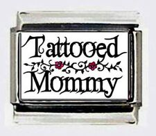 Tattooed Mommy TATTOO 9mm Photo Italian Charms for modular link bracelets