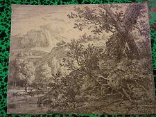 Karel DUJARDIN (c.1626-1678) GRAVURE XVII ECOLE HOLLANDAISE HOLLAND PAYSAGE 1659