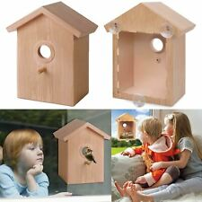 Bird House Nesting Feeding Nature Feeder Robin Sparrow Window Hanging Box DIY