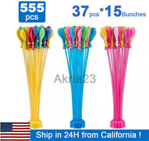 5-pack (555 Premium Water Balloons) Instant Easy Fill Self-Sealing Bunch O Style