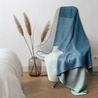 Soft & Warm Reversible Alpaca wool Throw Blanket 63 x 59 in