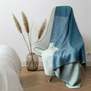 Soft & Warm Reversible Alpaca wool Throw Blanket 63 x 59 in