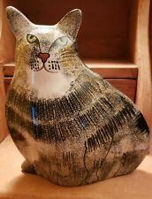 Ceramic Cat Vase, Green Eyes
