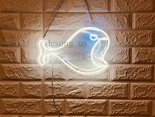 "New Big Fish Neon Light Sign 14"" Lamp Beer Bar Acrylic Real Glass"