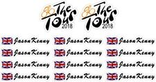 Bike Frame Stickers Personalised Name GB Flag Cycling Decal The Tour 2018