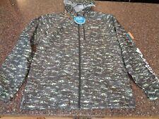 "Columbia Men's ""Morning View"" Windbreaker Hooded Jacket Green Camo PFG NWT"