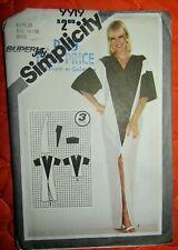 1981 Simplicity Pattern #9919 MISSES' SUPER JIFY PULLOVER CAFTAN Sz 14-16 UNCUT