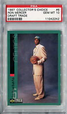 1997-98 Collector's Choice Draft Trade RON MERCER RC Gem Mint PSA 10 Low Pop 1/2