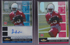 2008 Topps Finest Dominique Rodgers-Cromartie Auto Blue XFractor Rc & Free Rc