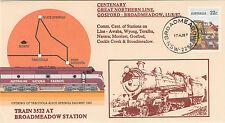 Stamp Australia Tarcoola PSE 1987 Gosford Broadmeadow Line cachet overprint