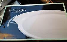 "SALE! Porcelain Serving Tray 11""x 16"" Chrome Rack NIB wedding shower gift"
