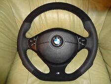 TUNING  UNTEN ABGEFLACHT Lederlenkrad + Airbag BMW  E38  E39 E46 Alcantara TOP