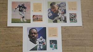3 Emmitt Smith Dallas Cowboys NFL11x14 Prints Hall Of Fame Florida Gators HOF #1