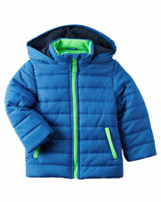 NWT Carters Winter Coat Puffer Jacket Blue GREEN Hooded...