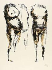 GUSTAV SEITZ  - Drei weibliche Torsi - Farblithografie 1967