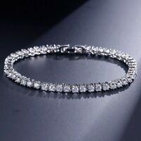 Christmas Sale Women's 5.50 Ct Round VVS1 Diamond Tennis Bracelet 14K White Gold