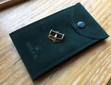& Rolex Suede Travel Pouch Rolex 18mm Gold Plated Buckle