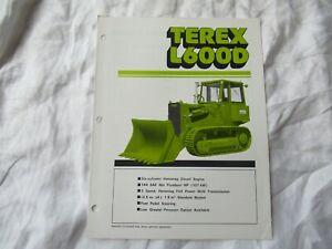 1981 Terex L600D loader tractor brochure