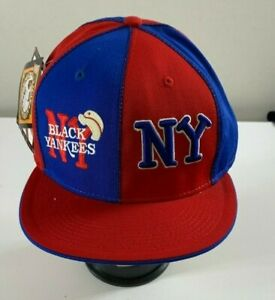 NEGRO LEAGUE BLACK NY YANKEES HAT NEW BLUE/RED