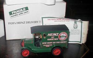DANBURY MINT 1920'S HEINZ DELIVERY TRUCK 1:2450