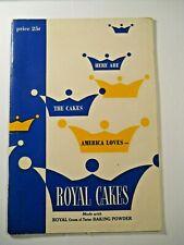 1950 ROYAL CAKES CREAM OF TARTER BAKING POWDER COOKBOOK Advertisement Pamphlet