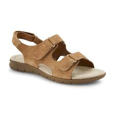 97a2aba3aae Cobbie Cuddlers Women s Brown Beige Beatrice Suede Sandals 52070 Size 7.5  Wide