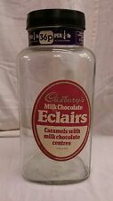 Early Cadbury's Eclairs candy store display glass jar antique England Chocolate