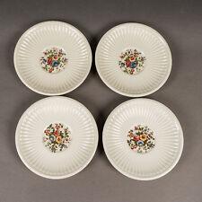 Vintage Wedgwood Edme Conway Floral Pattern Saucer Set of 4 England