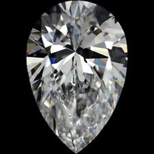 5.75  ct Crystal Carbon Pear Synthetic Stone.Replaces Diamond Moissanite