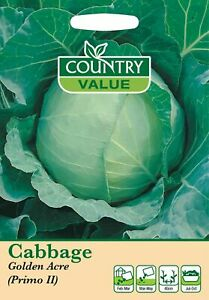 Cabbage Golden Acre / Primo II seeds (400) Country Value by My Fothergill's