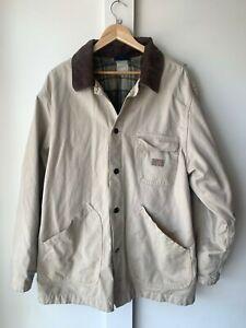 Dickies Corduroy Collar Jacket Flannel Lined XL Khaki
