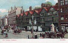 London - Holborn, Old Houses - 1900's Postcard