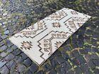 Handmade rug, Runner rug, Turkish rug, Vintage rug, Wool, Carpet | 2,6 x 5,7 ft