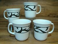 SET OF 4 - VTG. CORNING CORELLE - LYRICS - 10 OZ. COFFEE MUGS / CUPS - NICE