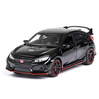 Collection Model Car Toy Honda 10th Civic FK8 Type R 1:32 Diecast Light&Sound