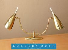 FAB! 50'S GIO PONTI MID CENTURY BRASS LAUREL LAMP! Atomic Modern Light Eames Vtg