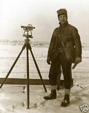 Vintage Michigan Surveyor Surveying In Winter Old Transit Survey Bag 1915 GREAT