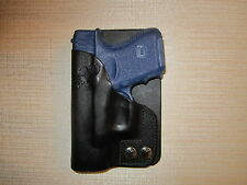 FITS GLOCK 26 & 27 & 33 leather right hand, wallet and pocket holster