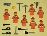 LEGO Minifigures 7 Construction Men Guys Tools Lego City Town Lego Minifigs