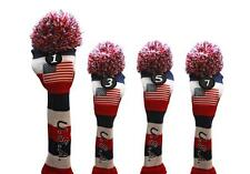 1 3 5 7 USA GOLF Driver Headcover Red White Blue KNIT Head Covers Headcovers