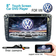 "8"" Radio Stereo Multimedia Car DVD Player GPS Navi For VolksWagen VW EOS+Camera"