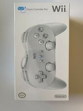 Nintendo Wii Classic Controller Pro White (Authentic, Factory Sealed)
