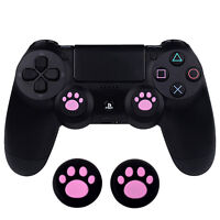 4 PCS Thumbsticks Grip for PS4 PS3 Xbox 360 One Controller Pink Cat Paw Pattern