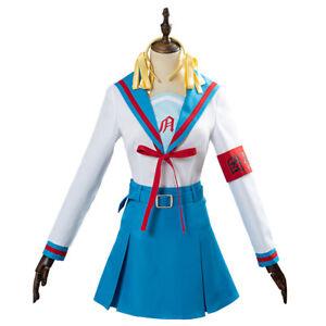 The melancholy of Haruhi Suzumiya Cosplay Costume School Uniform Blue Dress