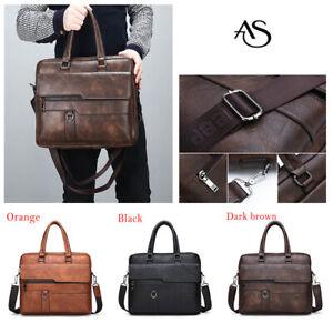 Genuine New Luxury Men Women Faux Leather Handbag Large Casual Business Lap Bag
